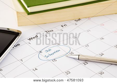 Job Interview Appointment On Schedule