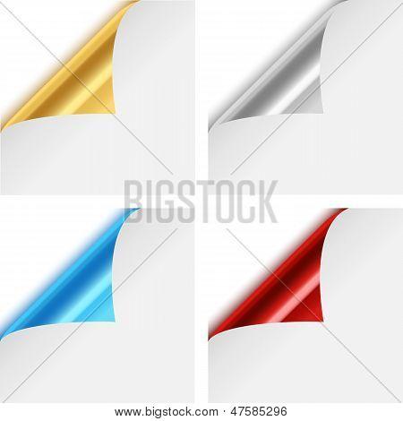 Colorful Metallic Paper Corner Folds