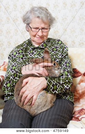 Grandmother With Bunny