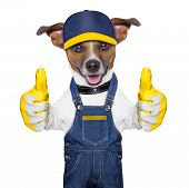 craftsman dog with two thumbs happy to help poster