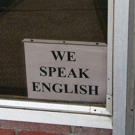 Sign Of The Times- Speak English
