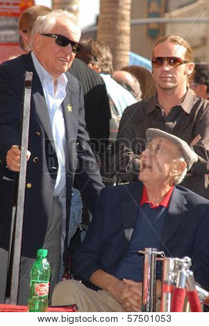 Garry Marshall and Jack Klugman at the induction ceremony of John Stamos into the Hollywood Walk of Fame, Hollywood Blvd., Hollywood, CA. 11-16-09