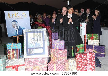 Natalie Cole at the Capitol Records' Rooftop Christmas Tree  Lighting, Capital Records, Hollywood, CA. 11-19-09