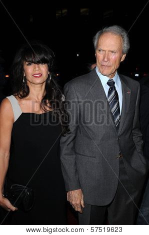 Clint Eastwood and Dina Eastwood at the