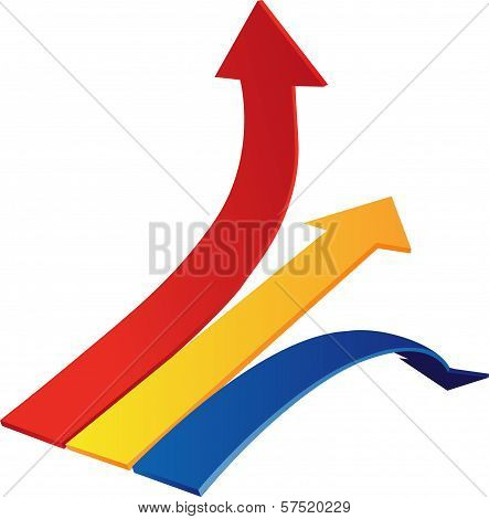 diagram Arrows Up, Down, Line