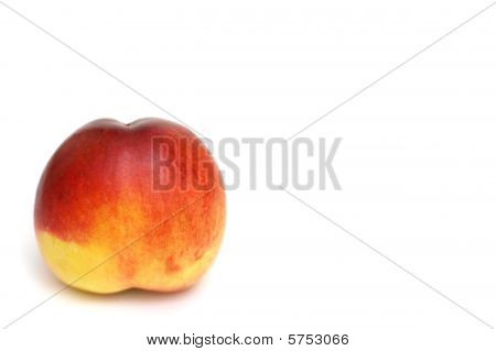 Apricot Isolated On White. Shallow Dof.