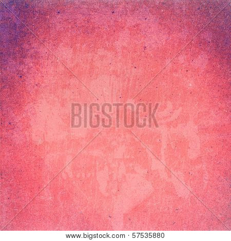 Highly Detailed Textured Grunge Background Frame. High Resolution Recycled Red Cardstock With Halfto