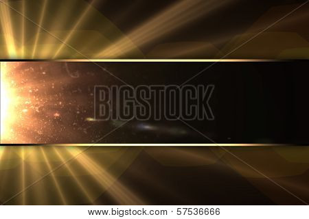 The background of the rays of the stars, with the nameplate.