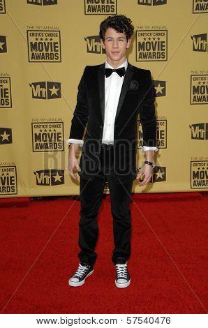 Nick Jonas at the 15th Annual Critic's Choice Awards, Hollywood Palladium, Hollywood, CA. 01-15-10