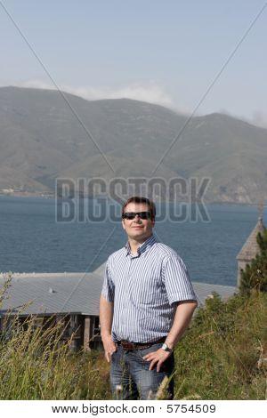 Happy Man Has Vacation