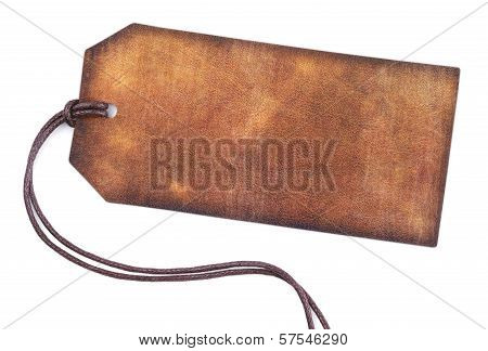 Blank Brown Leather Tag