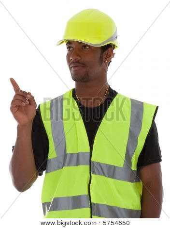 Young African American Worker