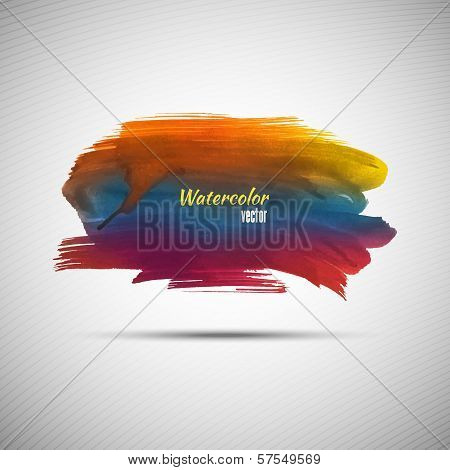 Watercolor grunge background for your design