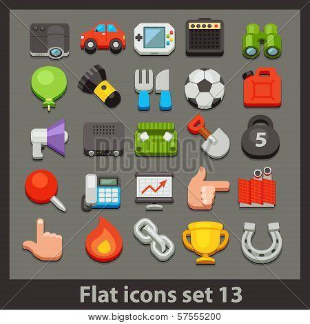 vector flat icon-set 13