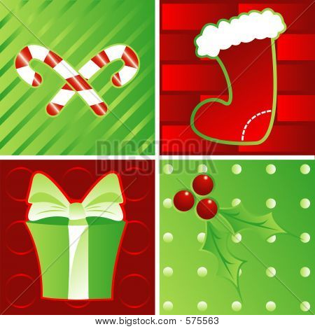 Holidays In Green And Red