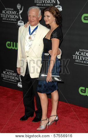 Buzz Aldrin and Heather Tom at the 36th Annual Daytime Emmy Awards. Orpheum Theatre, Los Angeles, CA. 08-30-09