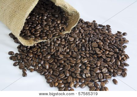 Jute Bag And Coffee Beans