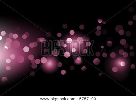 illustration of disco lights dots pattern on black background poster