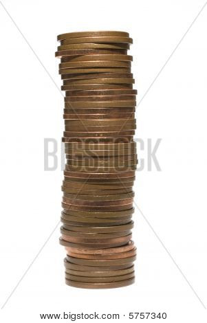Stack Of Two Pence Coins