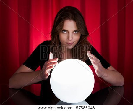 Fortuneteller With Glowing Ball