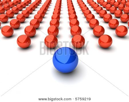 Leadership concept with spheres 2