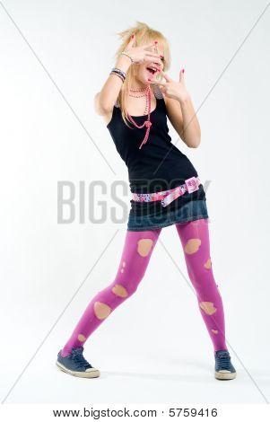 Funky Dancing Punk Girl