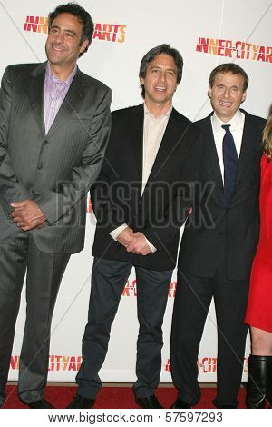Brad Garrett with Ray Romano and Philip Rosenthal at the 20th Anniversary Inner City Arts Imagine Gala and Auction. Beverly Hilton Hotel, Beverly Hills, CA. 10-15-09