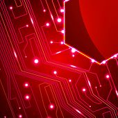 circuit board  background, technology illustration,  colorful art poster