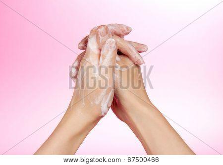 Hands and foam