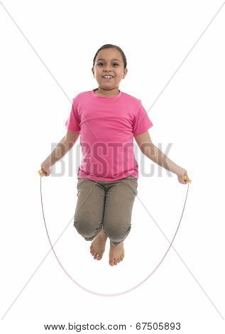 Young Girl Performing Rope Skipping