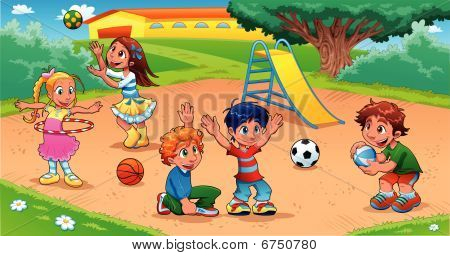Kid_playground.epsKids in the playground.