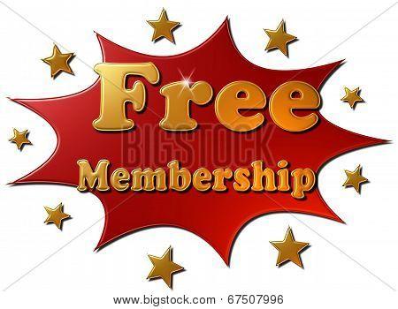 Free Membership (red explosion)