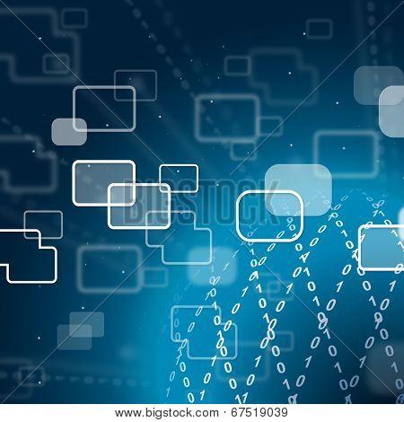Zero One Background Shows Internet Technology And Broadband.