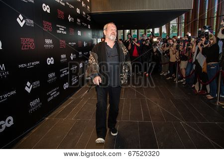 MOSCOW - JUNE, 14: American director Terry Gilliam with fans. Movie Premiere The Zero Theorem at the Barvikha Village. June 14, 2014 in Moscow, Russia