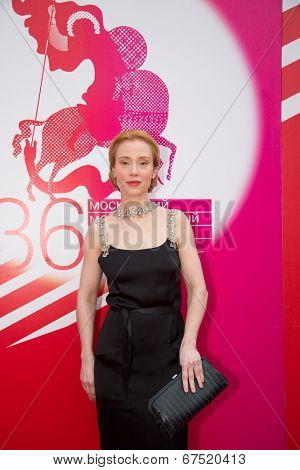 MOSCOW - JUNE, 28:  German Actress Franziska Petri. 36st Moscow International Film Festival. Closing Ceremony at Rossiya Cinema . June 28, 2014 in Moscow, Russia