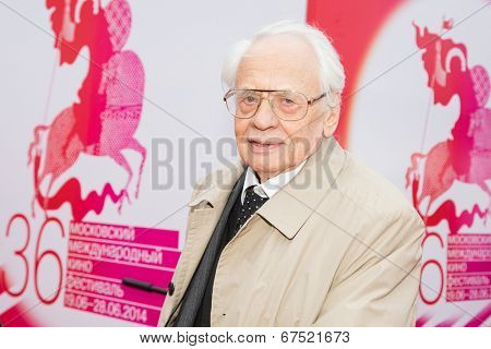 MOSCOW - JUNE, 28: Russian director Vladimir Naumov. 36st Moscow International Film Festival. Closing Ceremony at Rossiya Cinema . June 28, 2014 in Moscow, Russia