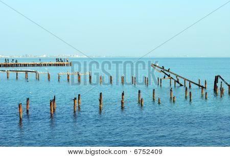 Remnants Of The Old Pier