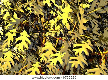 Branches of a tree with leaves