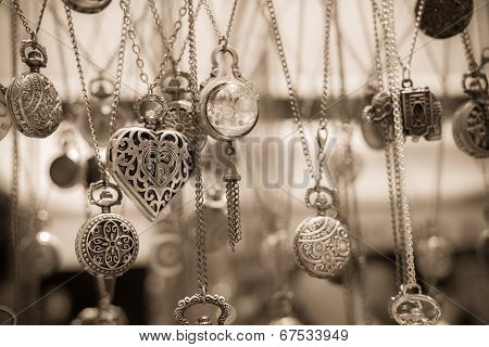 Vintage Heart Shaped Pendant Necklace Among Others
