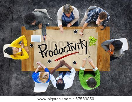 People in a Meeting and Single Word Productivity