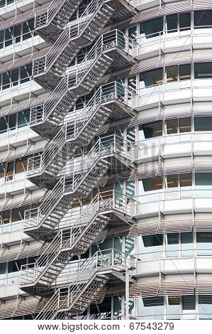 Stairs On The Building In Amsterdam, Netherlands