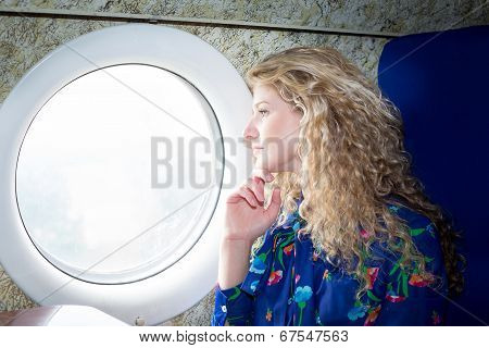 Woman In Airplane