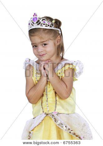 Cute little Girl wishing
