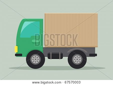 detailed illustration of a delivery truck, eps10 vector
