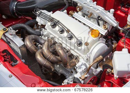 Car engine - under the hood