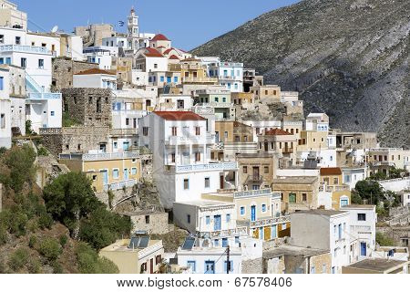 The town of Olympos on Karpathos island, Greece