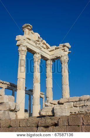 Columns In Temple Of Trajan