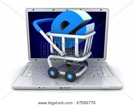 Laptop And Abstract E-shop