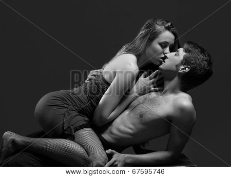 Portrait of a passionate couple