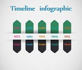 Timeline - different tooltips - vector infographic. EPS10 vector poster